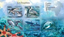 Dolphins Marine Life sea mammals Comoros Comores 2011 m/s Mi. 3068-72 #CM11110a