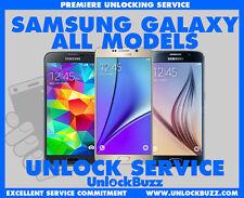 Unlock Code Samsung Galaxy S3 S4 S5 S6 S7 Note 2 3 4 5 Alpha Prime Bell Virgin