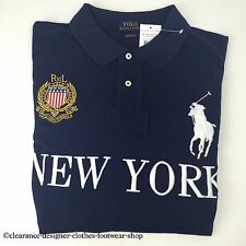 RALPH LAUREN POLO BIG PONY NEW YORK CITIES NAVY TOP T-SHIRT SIZE LARGE RRP £115
