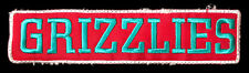 "2004 MEMPHIS GRIZZLIES NBA BASKETBALL 5"" RECTANGLE BLOCK TEXT TEAM PATCH"