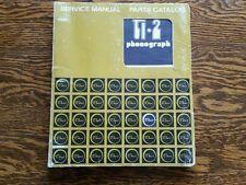Vintage Rowe ti-1 phonograph jukebox service Manual parts catalogs turntable