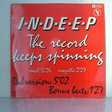 """Indeep – The Record Keeps Spinning (Vinyl 12"""", Maxi 33 Tours, Limited Edition)"""
