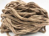 5/100M Natural Jute Hessian Burlap Ribbon Woven Weddings  Decor Floristry10mm
