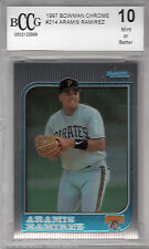 1997 Bowman Chrome rc ARAMIS RAMIREZ brewers Rookie card MINT bgs BCCG 10