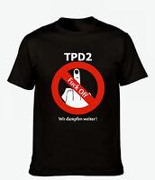 """Dampfer T-Shirt, schwarz, mit Aufdruck """"TPD2"""", E-Zigarette, Gr. L"""