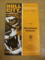 04/01/1969 Hull City v Wolverhampton Wanderers [FA Cup] (marked, team changes).