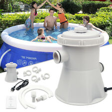 For Above Ground Pools Cleaning Tool 220V Electric Swimming Pool Filter Pump UK
