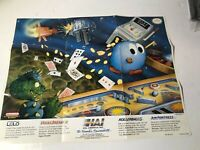 HAL America Nintendo NES Games Promo Poster Insert w/Adventures of Lolo & More!