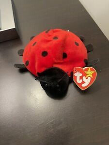 """Rare TY """"Lucky"""" Beanie Baby, Retired With errors. Original With Perfect Tags."""