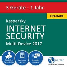 Kaspersky Internet Security 2017 - Multi-Device, 3 Geräte, 1 Jahr, ESD, Upgrade