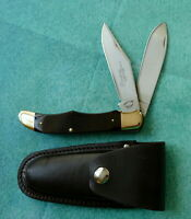 FRONTIER USA Double Eagle Folding Hunter Knife 4625 VTG Camillus Made Lockblade