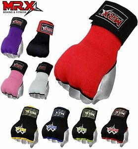 Gel Inner Boxing Gloves With Hand Wraps Wrist Support Boxing Muay Thai Mitts MMA