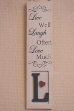 Wall Plaque Live Well Laugh Often Love Much Wooden Sign Friendship Gift F1151