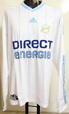 Olympic Marseille 2009/2010 Player Issue L / S HOME SHIRT da Adidas taglia XL nuova con etichetta