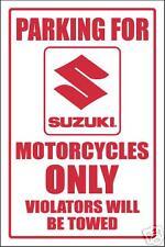 SUZUKI  MOTORCYCLE PARKING SIGN -aluminum top quality