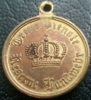 ✚6510✚ German Prussian Reservist 9 Years Military Service Medal WW1 MINIATURE