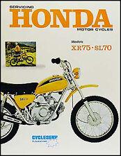 Honda XR75 Shop Manual 1973-1974-1975-1976 XR 75 Motorcycle Repair Service Book