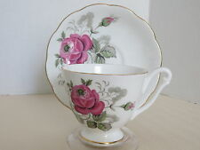 Queen Anne Bone China England Cup & Saucer Red Rose Tea Cup & Saucer