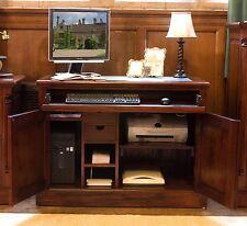 La Roque solid mahogany furniture hidden office hideaway computer PC desk