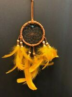 "Dream Catcher 6"" - Gold Feathers Authentic Cherokee Made in the USA"