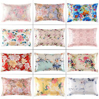 Pillow Case 100% Mulberry Silk 25Momme Slip Genuine Silk Pillowcase Floral Print