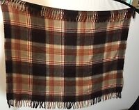 Faribo Plaid Blanket inches Faribault USA Vintage retro stadium 40 X 54 Inches