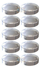 Pack 10 - Chrome PLASTIDOME 2 Piece Plactic Dome Screw Cap Cover Protector