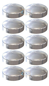 Chrome Plastidome 2 Piece Plactic Dome Screw Cap Cover Protector - Pack 10