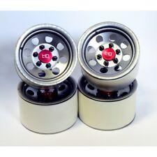 Hot Racing BLW22H18 Raw Steel 2.2 Beadlock 6-Lug 8-Hole Wheels 12mm Hex (4)