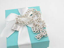 AUTHENTIC TIFFANY & CO 1837 PADLOCK NECKLACE POUCH INCLUDED