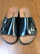 NEW Sixty Seven 67 Nenah Slides Sandals in Black Leather Size 39 Free People