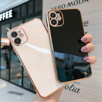 For iPhone 12 11 Pro Max XS 8 7 Plus Luxury Square Silicone TPU Soft Case Cover