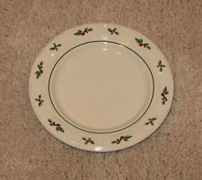 Longaberger Pottery ~ Traditional Holly 7-1/4� Diameter Bread Plate ~ Retired