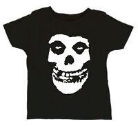 MISFITS Skull Band Bodysuit Horror Punk Unisex Black Rocker Toddler Kid T-Shirt