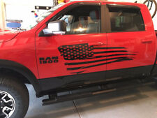 Distressed Flag Decal Side body Fits Truck Dodge Ram Ford F150  American USA D1