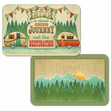 Life Is About The Journey Camping Trailer Reversible Plastic Placemat Set of 4