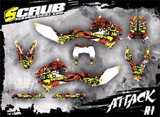 Grafik Dekor-Set KTM SCRUB SMC-R 690 2012-2015  '12-'15 Supermoto