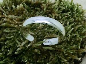 Schlichter Zehenring Fußring 925 Sterling Silber Zehring poliert einstellbar