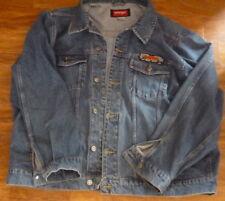 Vintage Wangler Denim Jacket with original Harley Davidson large patch c