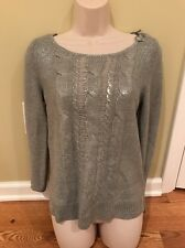 Maison Jules Silver Sweater Size S