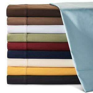 Glorious Bedding Sheets 4 PCs 1000TC Egyptian Cotton UK Super King Solid Colors