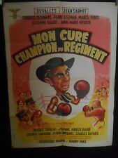 AFFICHE originale ( 60 x 80 ) MON CURE CHAMPION DU REGIMENT - 1955 -