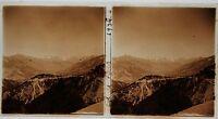 Montagne Francia Targa Di Vetro Stereo Amateur Pos. 1934 Vintage 7x13cm