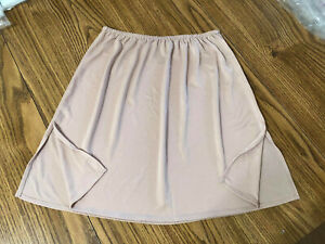 "Vassarette Satiny Beige Half Slip Size S Polyester 22"" Long Style 11003"