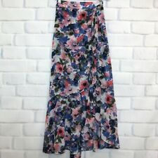Misa Los Angeles Themis Floral Ruffle Maxi Skirt Size XS