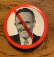 Vintage Mayor Rudy Giuliani  Pinback Button New York City