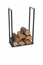 Kaminholzständer schwarz Metall 35 x 25 x 150 cm Brennholz Regal Rack Ständer