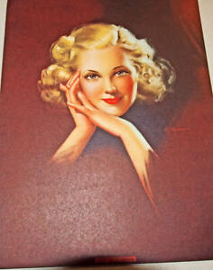 lot 5 Art Deco Prints FLAPPER LADY Pin Up great framed All Different