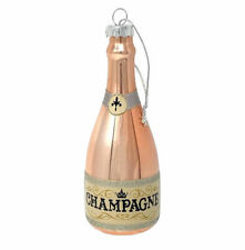 Pink Champagne Bottle Christmas Ornament ~ NEW