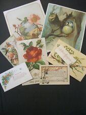 Victorian Christmas LOT New Year Card 1800's  GLITTER Blue Bird Cardinal   -  30